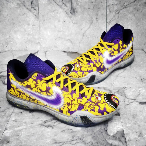 "Josh Hart ""Bape Lakers"" Kobe 10 Low [5 Pair Run]"
