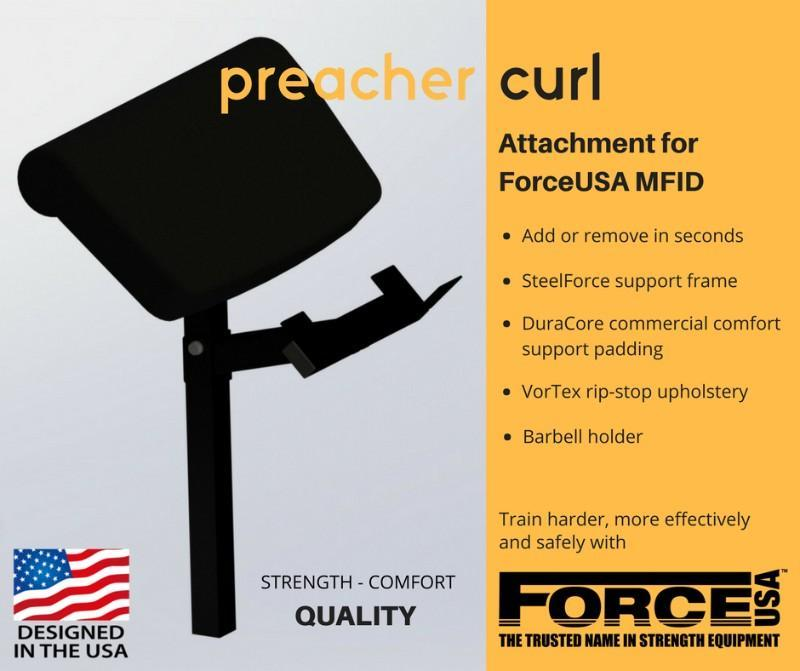 Force USA - Preacher curl attachment for F-MFID-S and F-MFID-B