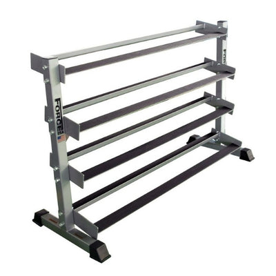 4 Tier Rubber Hex Dumbbell Rack