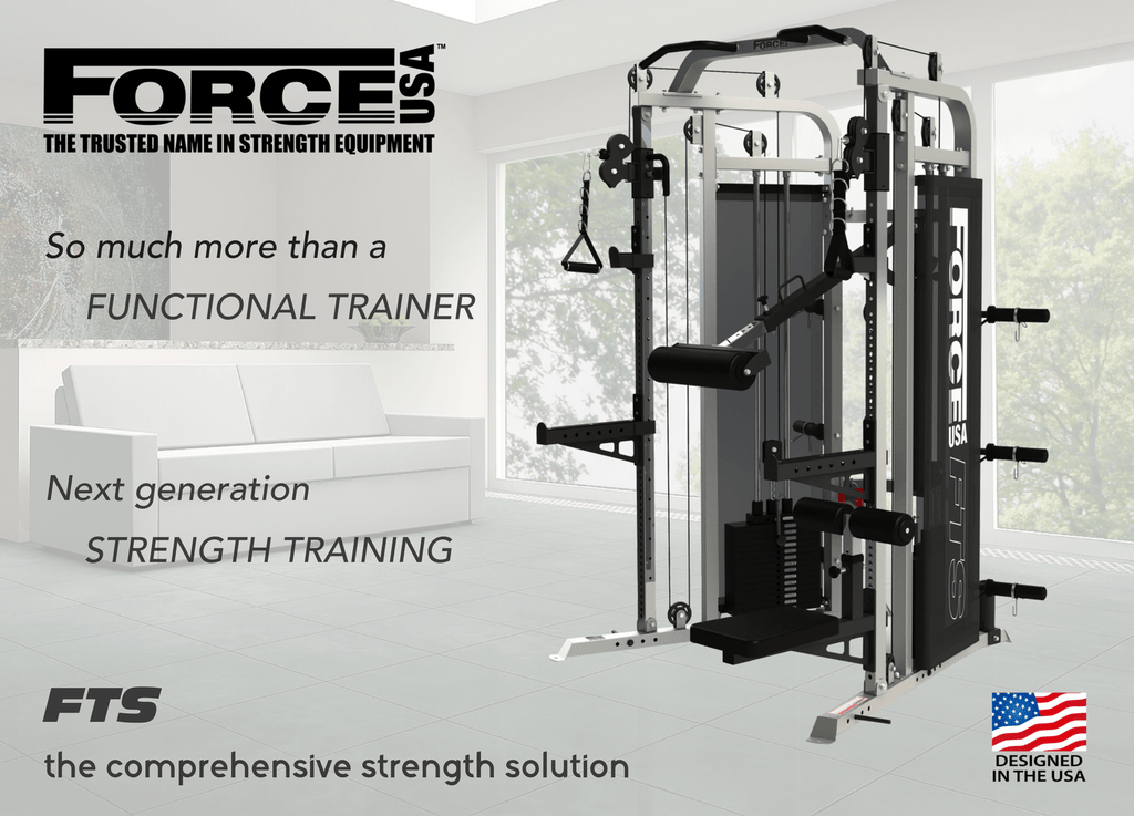 Force USA - SPOTTER KIT for Multi-Functional Trainer - (Includes 1x Pair J-Hooks, 1x Pair Spotters, 6x Weight Plate Holder, 4x Band Pegs)