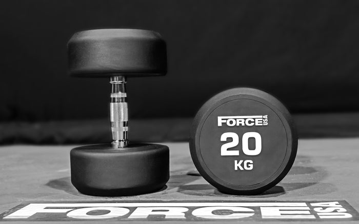 Force USA Commercial Round Rubber Dumbbells