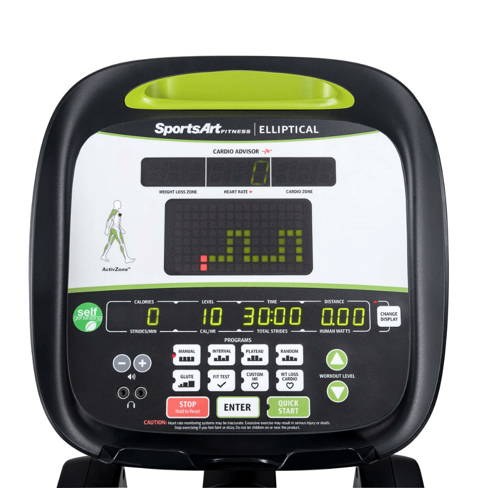 SportsArt Foundation Series Elliptical - Self-generating, w/HRC (Light Commercial)