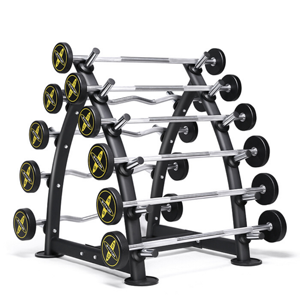 Brute Strength 10 Fixed Barbell Set + 10 Rack