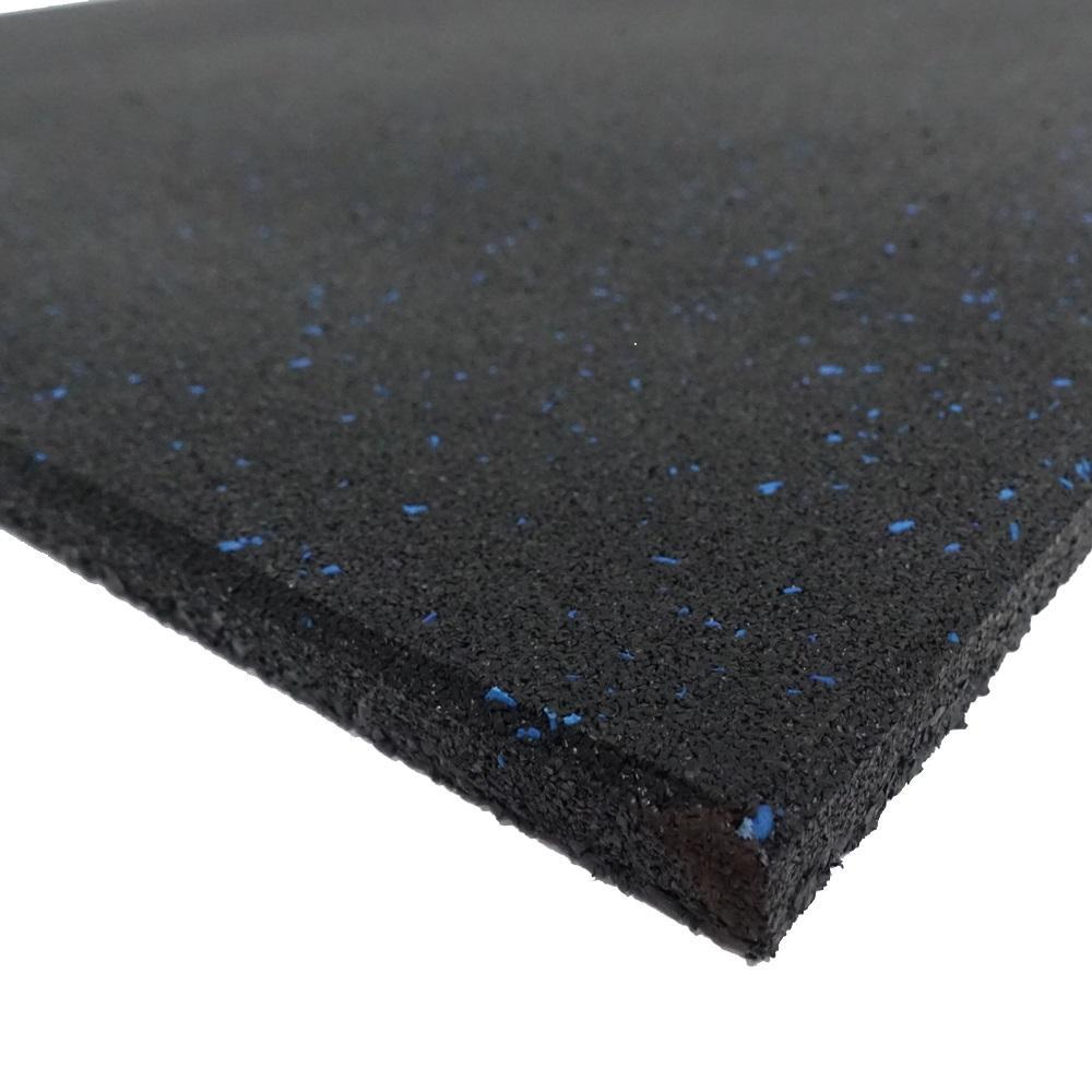 Home fitness rubber flooring tile with blue fleck