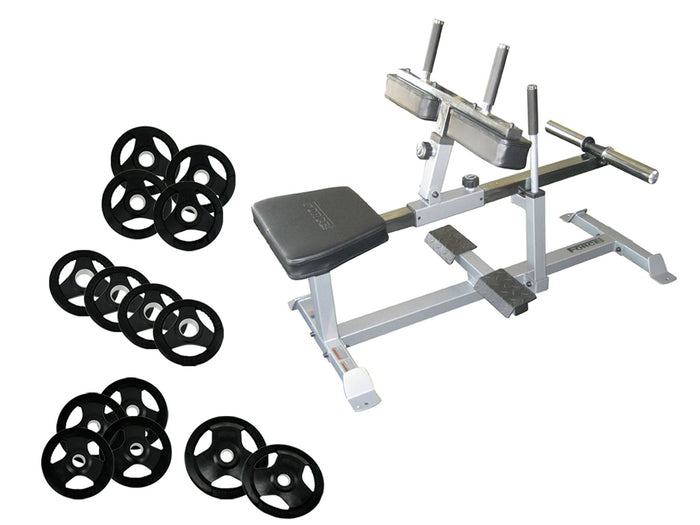Force USA Seated Calf Raise Machine & 100kg Olympic Weights