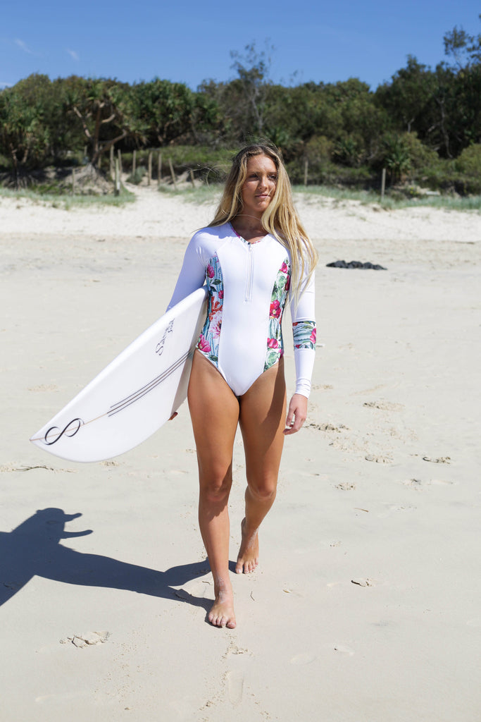 Long Sleeve  Cactus One Piece Surfsuit