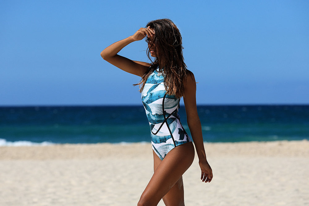 Blue Whales Reversible Surf Suit
