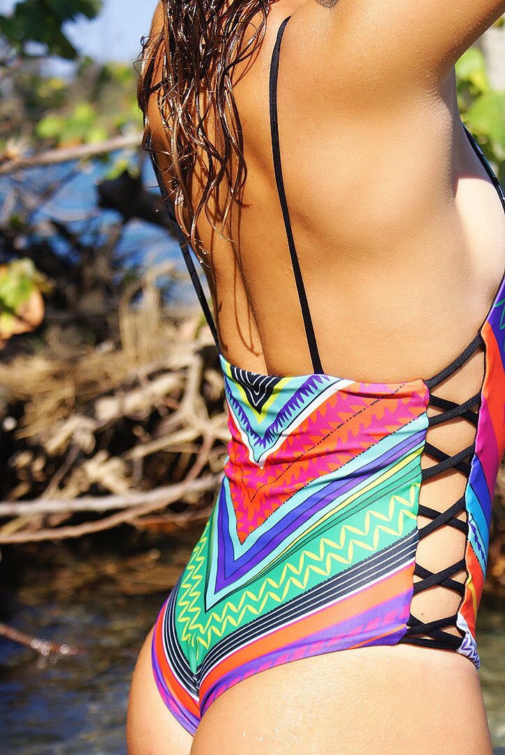 Mexican Reversible Criss Cross Side One Piece