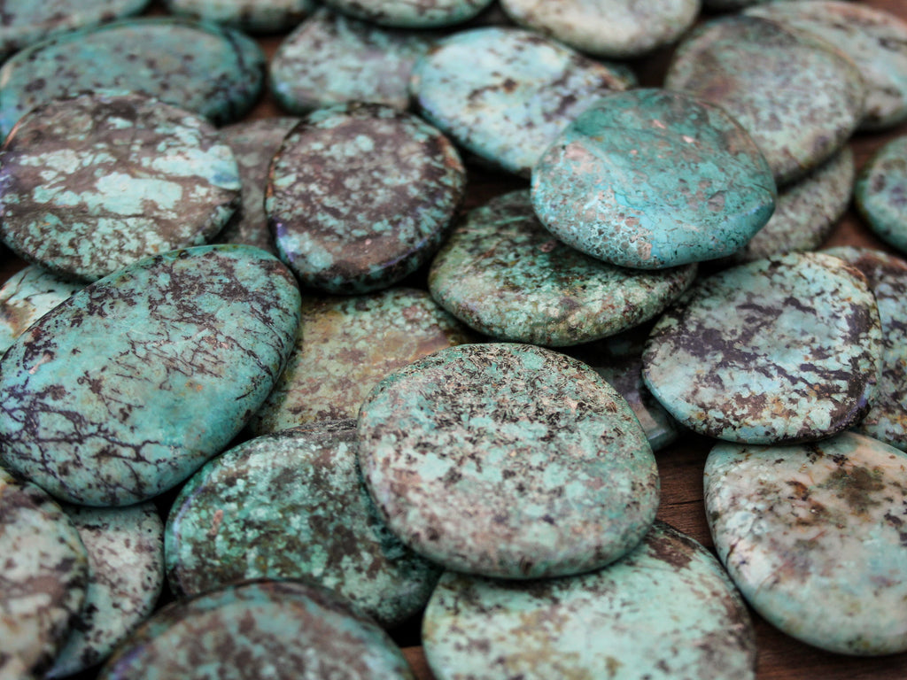 African Turquoise cabochons