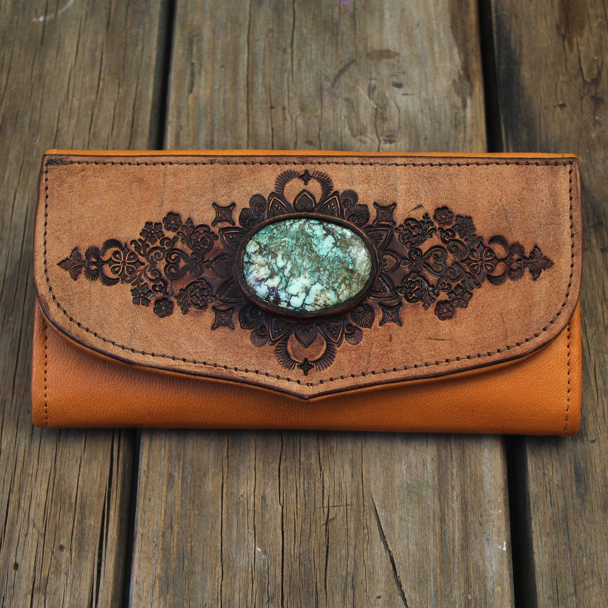 Mandala Wallet with high grade Turquoise