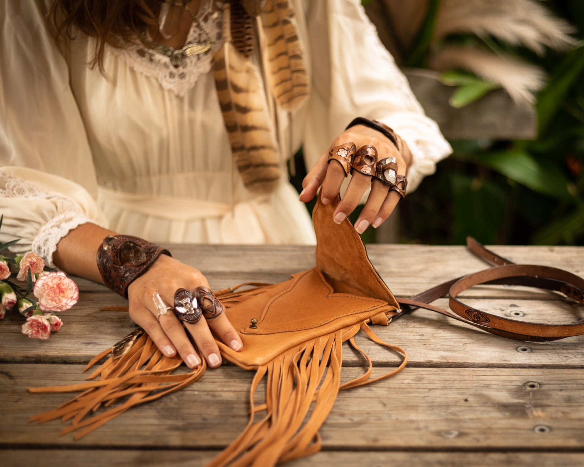 Buffalo Girl Gypsy Wanderer Phone Pouch & other leather accessories