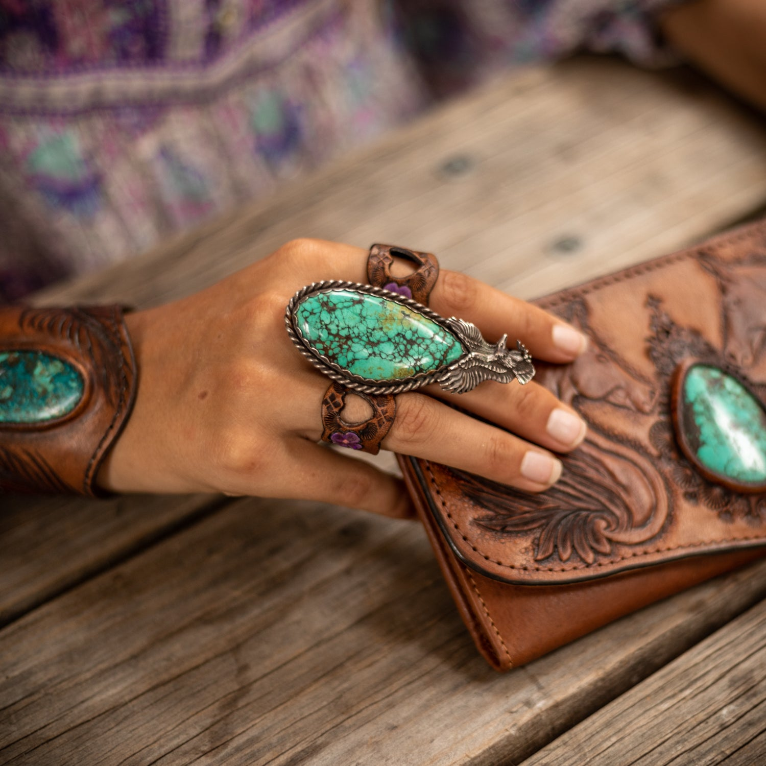 Buffalo Girl Turquoise & Leather obsession!