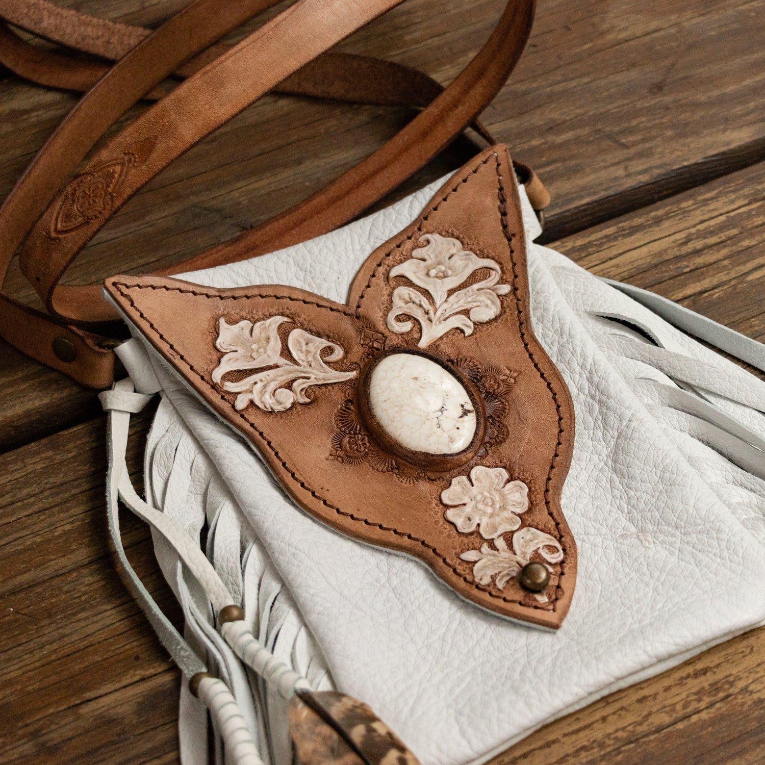Desert Bloom Gypsy Wanderer Phone Pouch with Howlite - Buffalo Girl