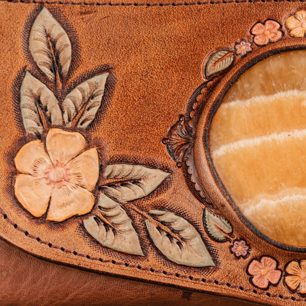 Desert Bloom Wallet with Orange Calcite - Buffalo Girl