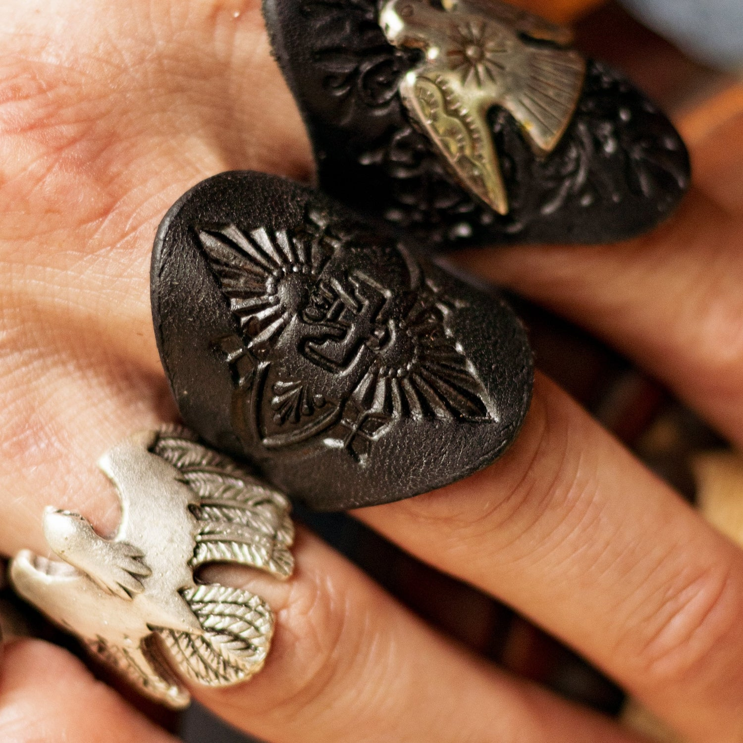 Mens Stamped Eagle Ring - Buffalo Girl