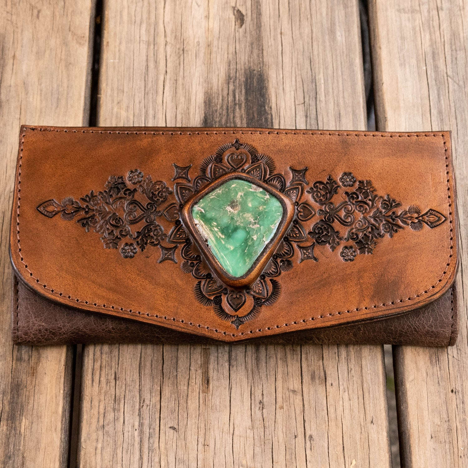 Mandala Wallet with Broken Arrow Turquoise - Buffalo Girl