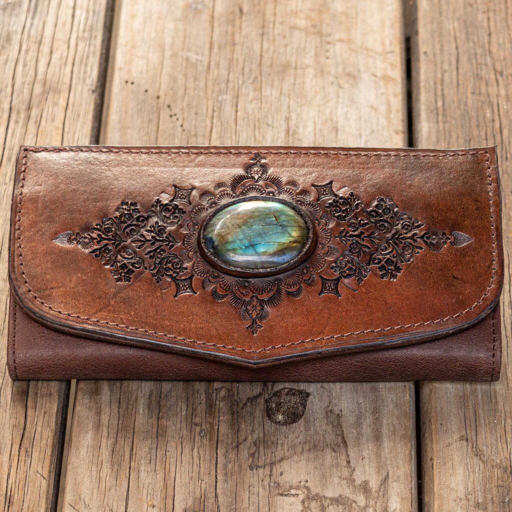 Mandala Wallet with Labradorite