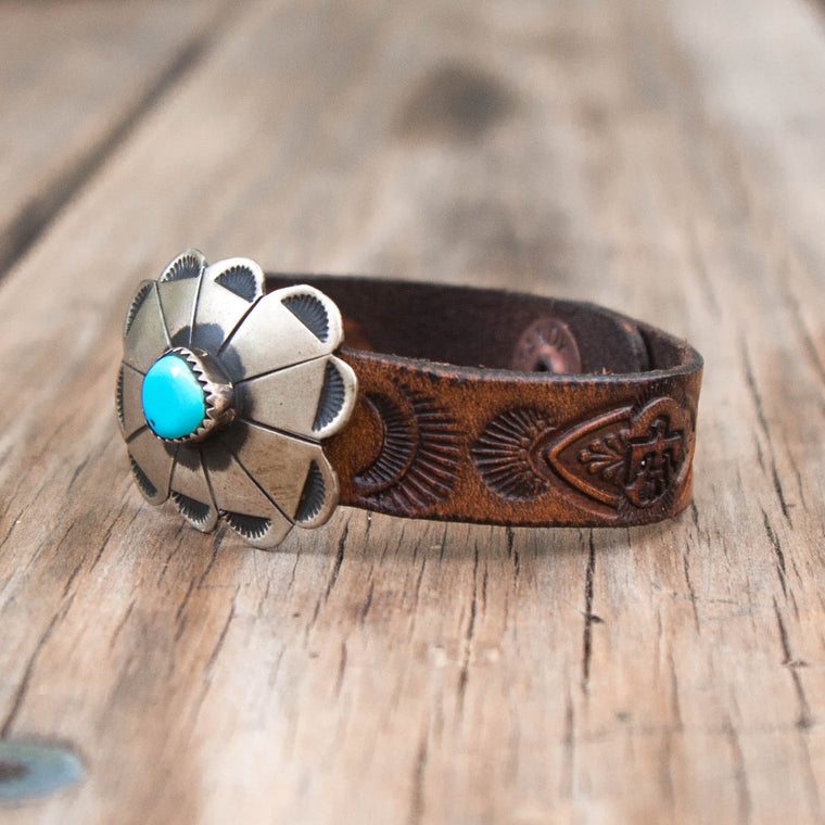 Little Navajo Concho Cuff - Buffalo Girl