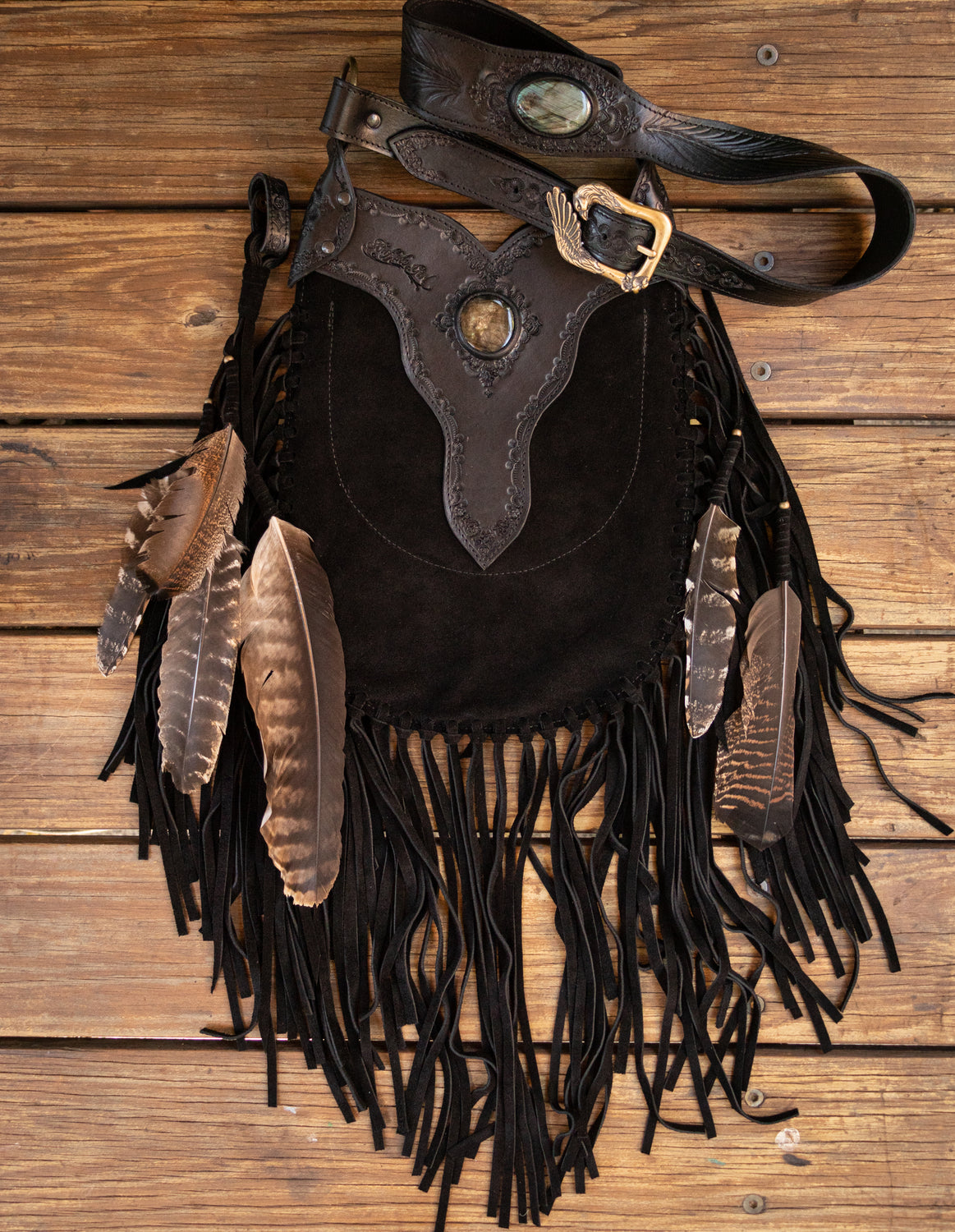 Apache Eagle Bag with Labradorite