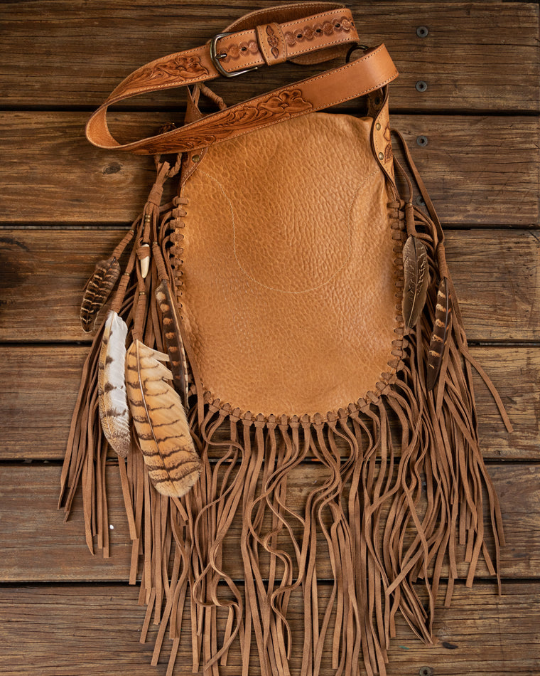 The Priestess Bag with Stag Horn Fastening - Buffalo Girl