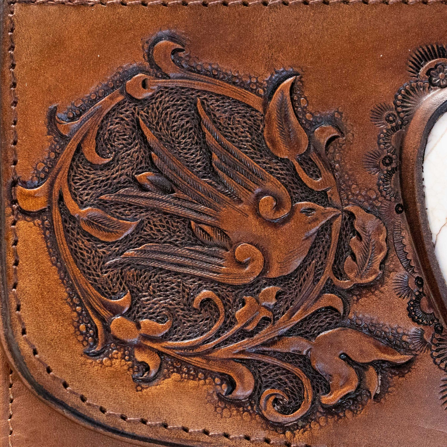 Swallow Wallet with Howlite - Buffalo Girl