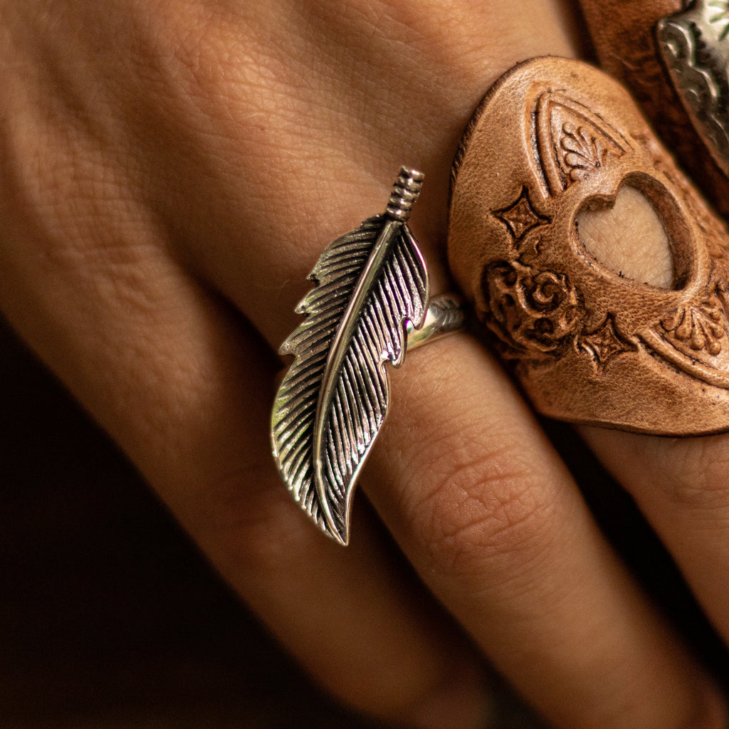 sterling-silver-feather-ring-handmade