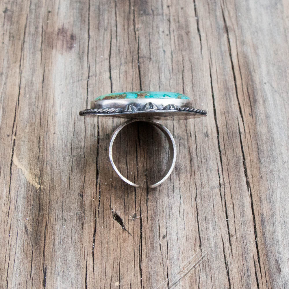 Silver Ring with High Grade Turquoise