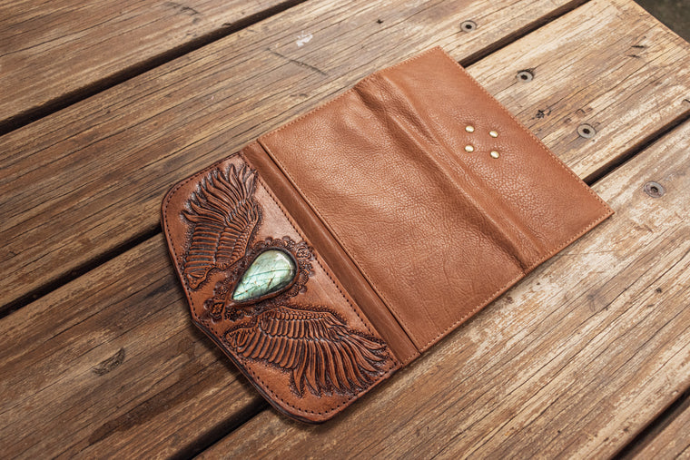 Guardian Wings Wallet with Labradorite