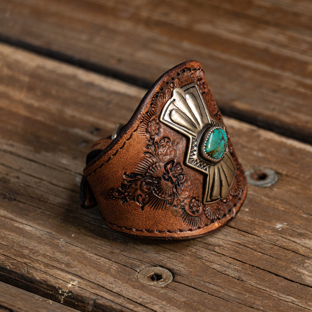 Sunflower Wallet with High Grade Turquoise - Buffalo Girl