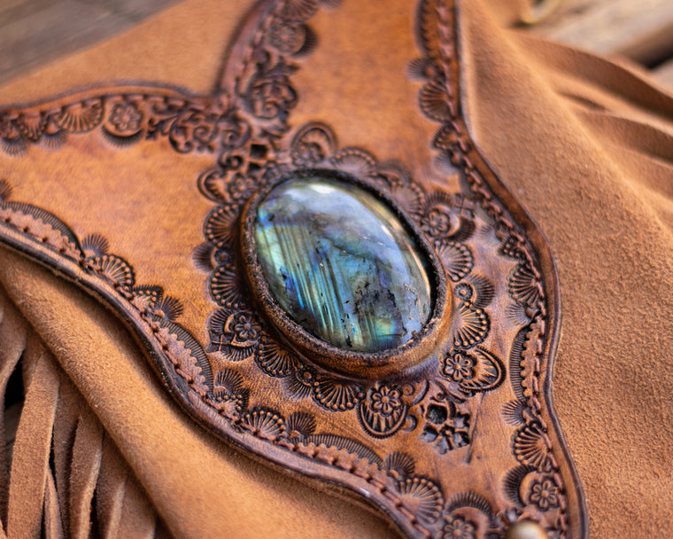 Gypsy Wanderer Phone Pouch with Labradorite