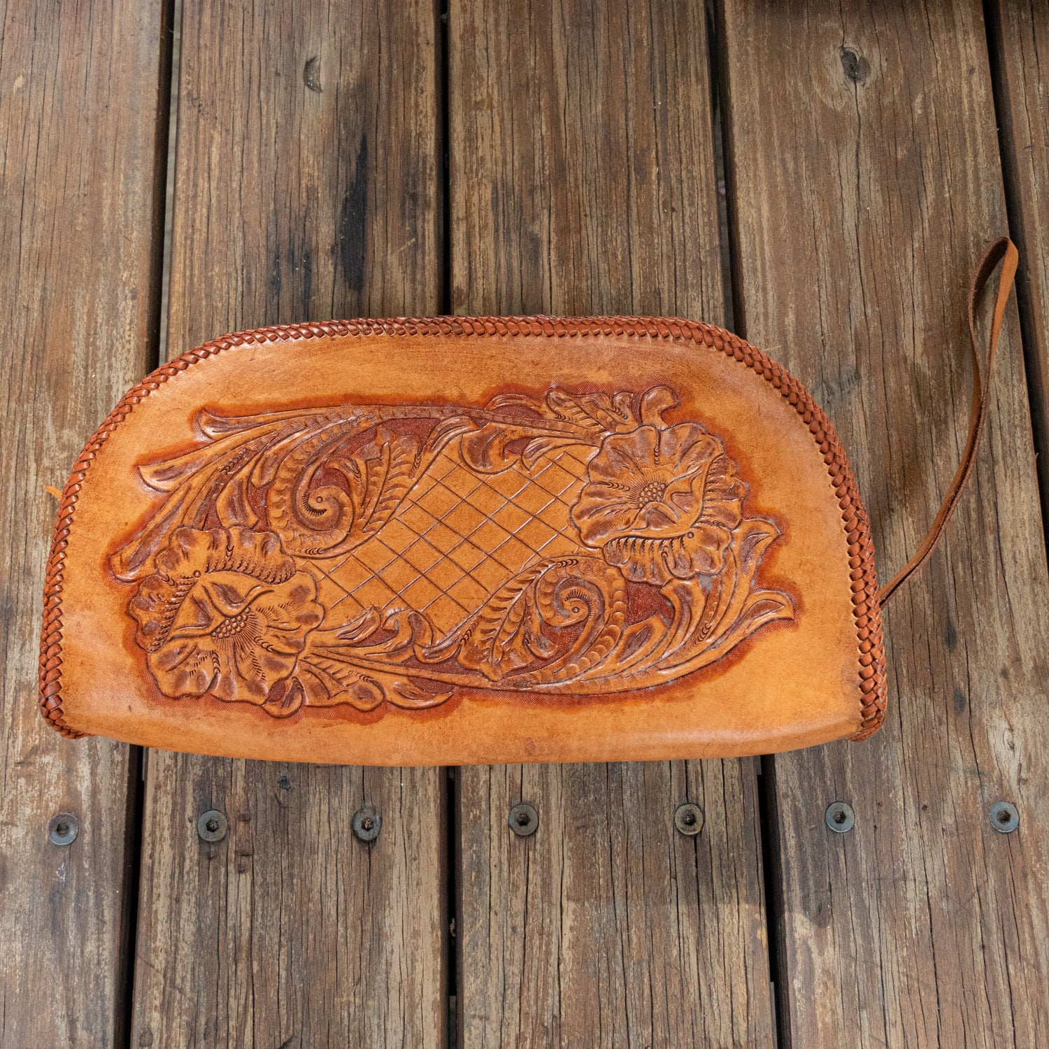 Hand Carved Vintage Clutch