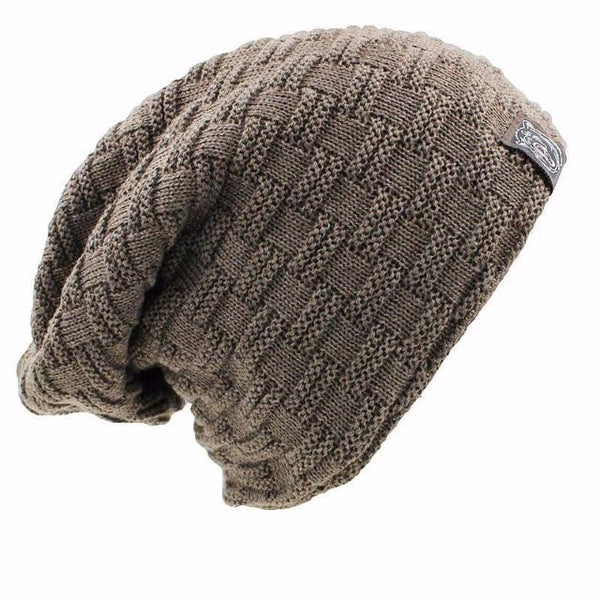 999a1c271b82d4 Woven Pattern Winter Beanie with Faux Fur Lining – Bash Monroe