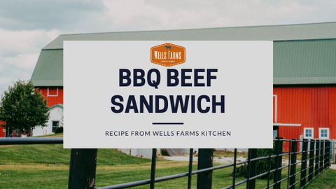 BBQ Beef Sandwich - Tailgate Food - University of Wisconsin Badgers Tailgate food - Wells Farms Premium Beef - Chuck Roast - Crock pot recipe - Madison, Wisconsin - Local Beef