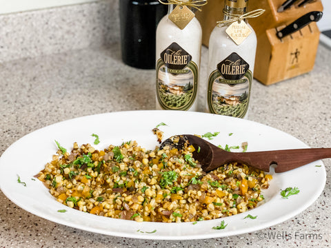 Cilantro Lime Corn Salad by Sarah Wells of Wells Farms Beef and Wells Farms Kitchen