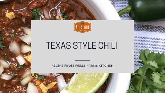 Wells Farms Texas Style Chili - Wells Farms Premium Beef - Local beef near Madison, Wisconsin