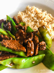 Beef and Snow Pea Stir Fry - Garden to Table - Farm to Table - Madison, Wisconsin - Midwest raised Beef - Beef Farm
