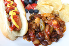 Cowboy Baked Beans with Wells Farms Beef - the perfect side for any picnic or potluck