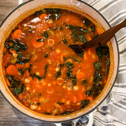 Wells Farms Minestrone Soup Recipe - Beef in Madison, WI - Beef in Sun Prairie, WI