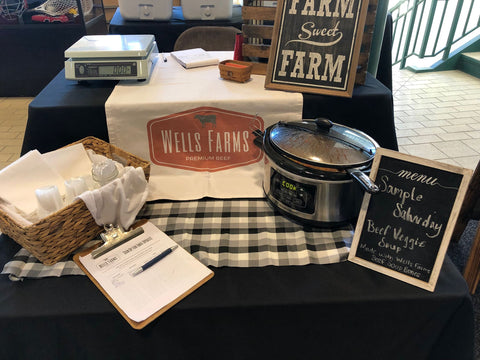 Wells Farms Sample Saturday - Beef Veggie Soup at the Sun Prairie Farmers Market