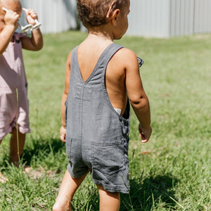 Olas Supply Co: Emily Overalls Charcoal