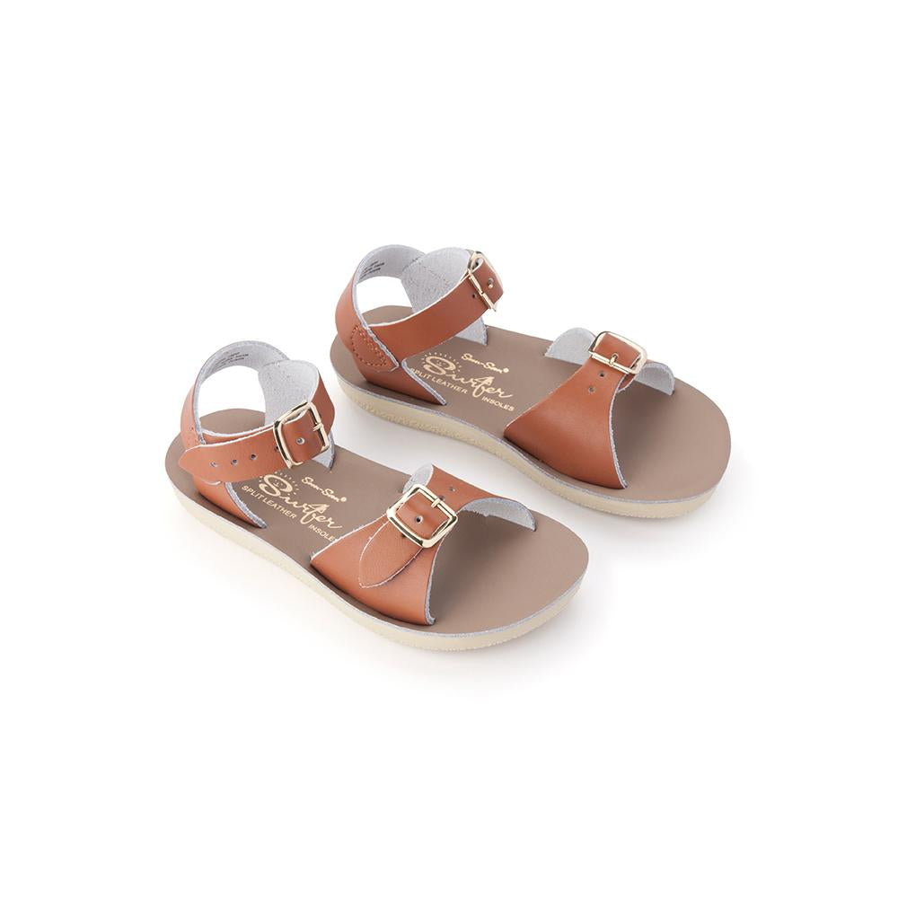 Saltwater Sandal: Kids Surfer Tan