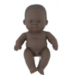 Miniland: 21cm Baby Doll Undressed (African)