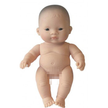 Miniland: 21cm Baby Doll Undressed (Asian)