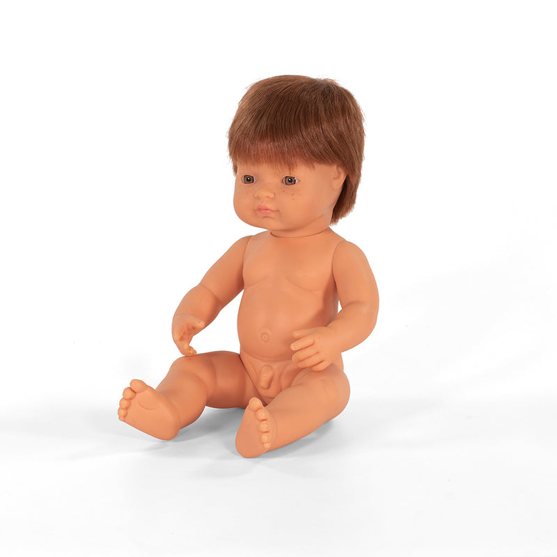 Miniland: 38cm Baby Doll Undressed (Caucasian Red Head)
