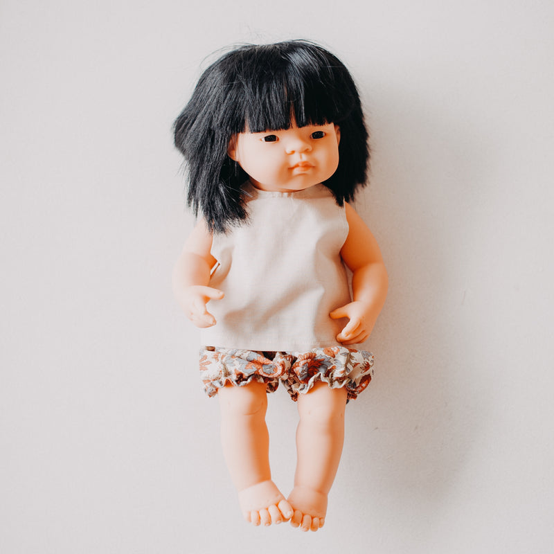 Miniland Doll Clothing: 38cm Top & Bloomers Spring