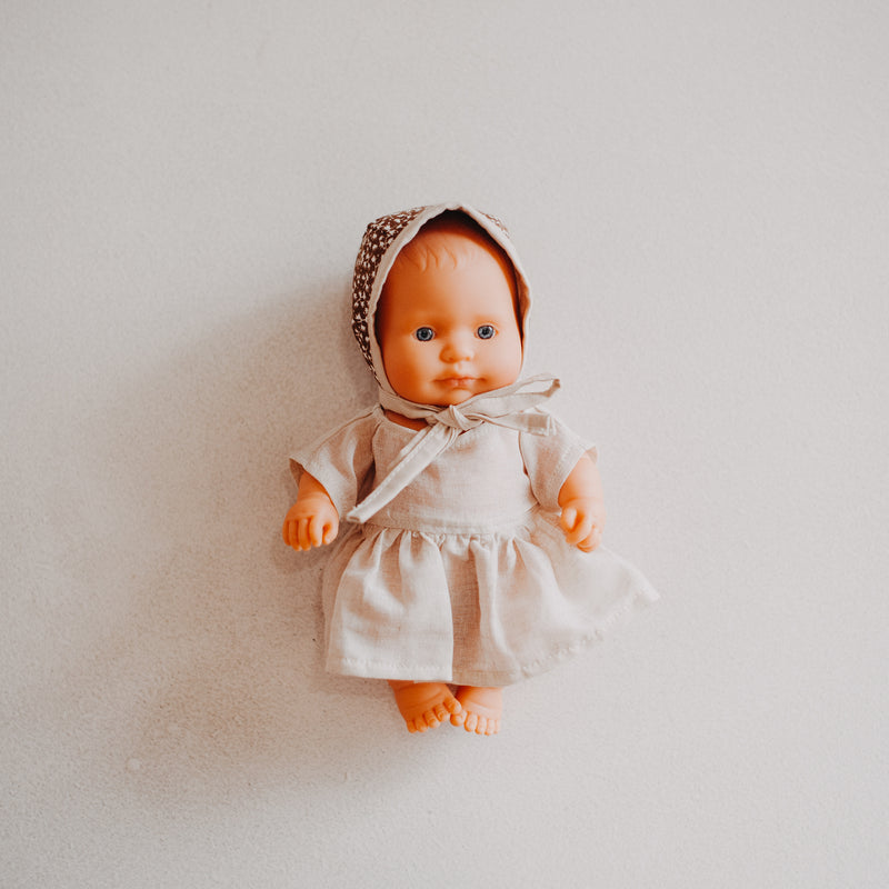 Miniland Doll Clothing: 21cm Cheesecloth Dress