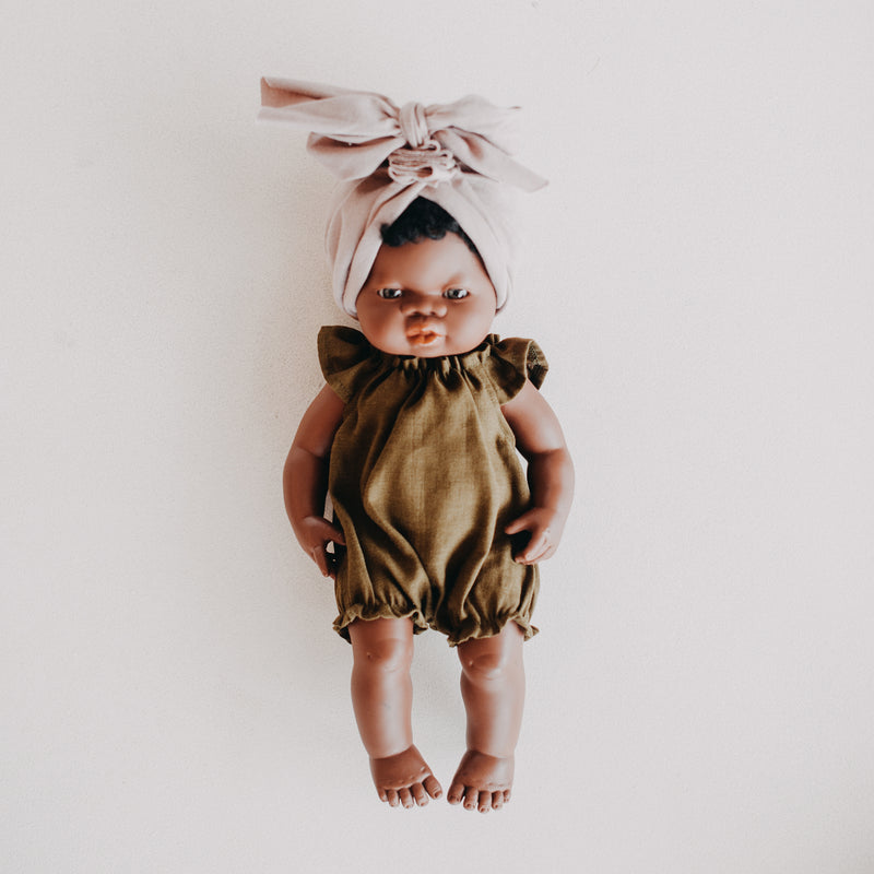 Miniland Doll Clothing: 38cm Olive Romper