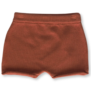 Relaxed Fit Knitted Short: Rust