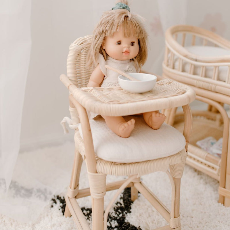 Tiny Harlow: Rattan Doll's Highchair