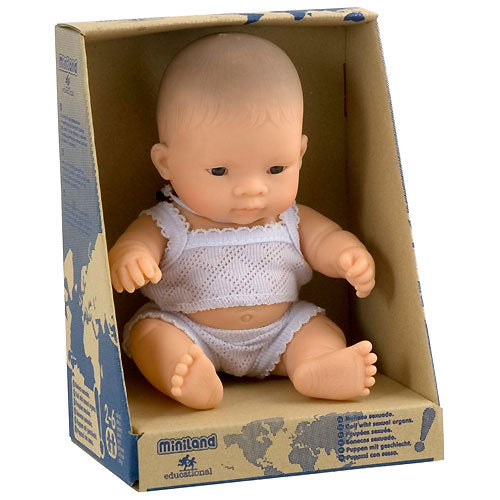 Miniland: 21cm Baby Doll (Asian)